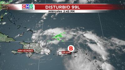 Progreso de onda tropical que afecta a Puerto Rico