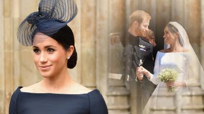 Este es el verdadero vestido azul 💙 que lució Meghan Markle