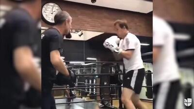 ¡Cuidado Canelo! Lopetegui comienza a practicar boxeo