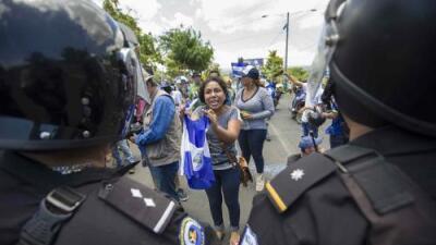 """""""Únanse a nosotros"""": la súplica de los manifestantes el día que los antimotines volvieron a las calles de Managua"""