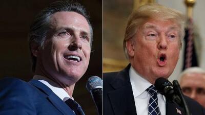 """Gavin Newsom exige la renuncia de Trump tras sus polémicos comentarios sobre los """"países de mierda"""""""