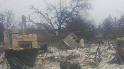 Logró salvar su vida y la de su familia, pero lo perdió todo en los incendios de California