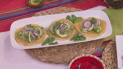 Comenzamos a celebrar el Mes de la Herencia Hispana con esta rica y fácil receta de aguachile de camarones