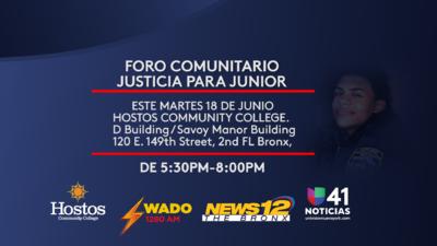 Acompáñanos mañana en el Foro Comunitario Justicia para Junior