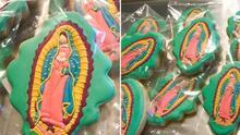 Madre y su hija crean con galletas en forma de la Virgen de Guadalupe