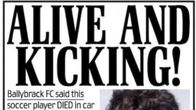 Metidota de pata: club irlandés anunció la muerte de jugador español... después la desmintieron