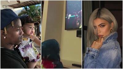 La tierna reacción de la bebé de Kylie Jenner al ver a su papá, Travis Scott, desde la TV en el Super Bowl