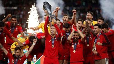 En fotos: la fiesta de Portugal y Cristiano Ronaldo con su primera UEFA Nations League