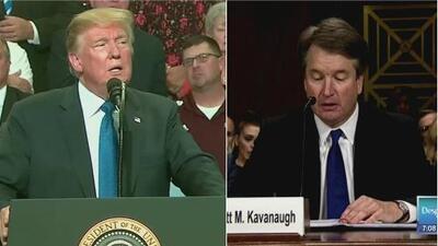 Donald Trump se burla de Blasey Ford y victimiza a Brett Kavanaugh