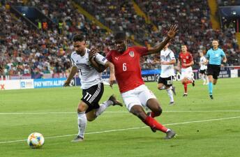 En fotos: Alemania iguala con Austria en el Europeo Sub-21 y clasifica a las Semifinales