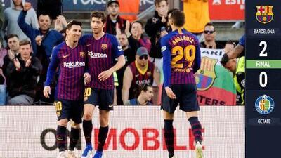 ¡Bálsamo que poco alivia! Barcelona reencuentra el triunfo en la Liga, aunque ya la tiene ganada