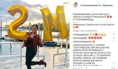 """Felicitan a Francisca Lachapel por su """"embarazo"""" luego de esta foto en Instagram (y ella responde)"""