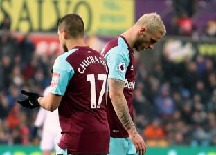 Estrepitosa caída del West Ham, con el 'Chicharito' en su visita al Swansea