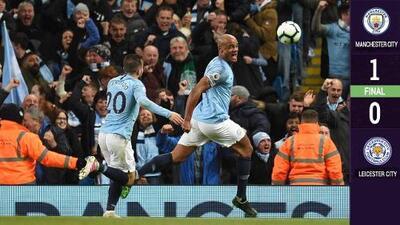 ¿Zapatazo de título? Kompany le da el triunfo y casi el campeonato al Manchester City