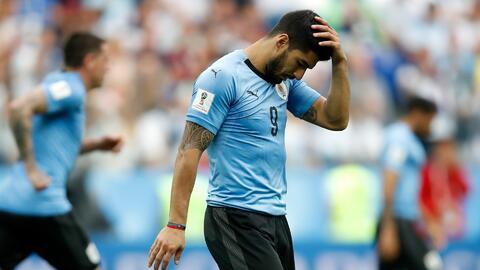 Luis Suárez estará dos semanas de baja con el Barcelona y no jugará con Uruguay
