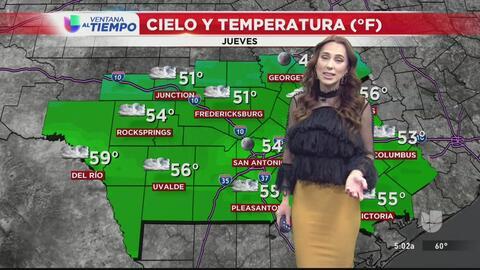 El centro de Texas tendrá un jueves ligeramente nublado