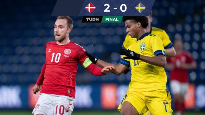 Dinamarca se lleva 2-0 el duelo escandinavo ante Suecia