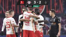El Leipzig cura las heridas y derrota al Gladbach