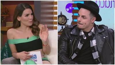 Karina Banda se sonrojó con Casper Smart, juez de Mira Quién Baila All Stars, al poner en práctica su inglés