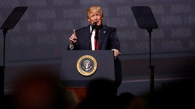 Trump, primer presidente en dar discurso ante Asociación Nacional del Rifle desde la época de Reagan