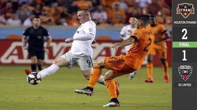 Wayne Rooney anotó pero Houston le dio la voltereta a DC en un abrir y cerrar de ojos