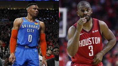 Houston y Oklahoma City arman intercambio de Russell Westbrook y Chris Paul