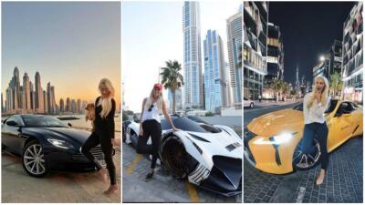 Los superautos que ha manejado la 'youtuber' de Dubai