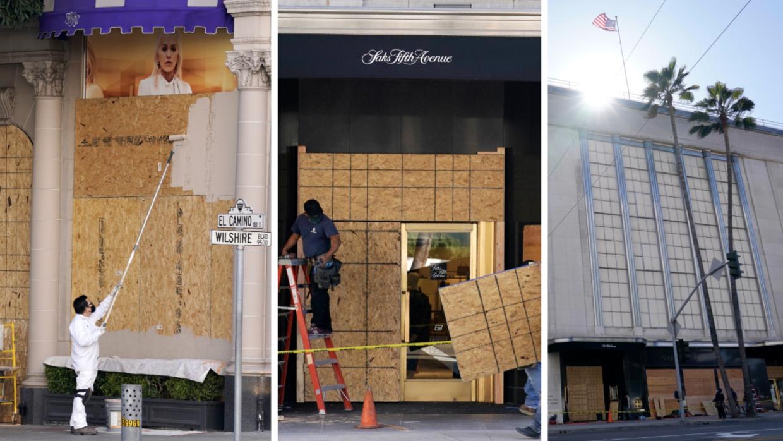 Elecciones: Negocios se preparan ante posibles brotes de violencia en Los  Ángeles | Tu Ciudad Elecciones 2020 Los Ángeles | Univision