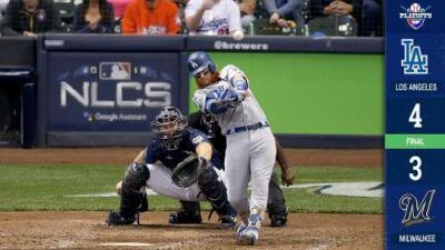 Dodgers ganan con jonrón de Turner y empatan la serie con Milwaukee