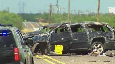 Testigo grabó la trágica escena tras el accidente que acabó con la vida de cinco inmigrantes en Texas