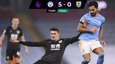 El Manchester City de Guardiola se da un paseo con el Burnley