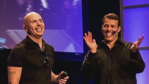 Pitbull y Tony Robbins ofrecerán música y motivación en un estudio de boxeo en Nueva York