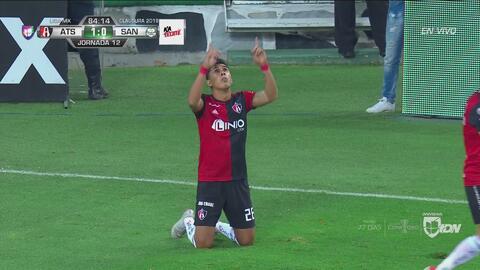 ¡A lo Atlas! Los Zorros madrugaron a Santos e Isijara puso el 1-0