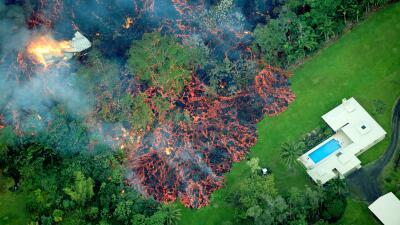En fotos: El vecindario hawaiano arrasado por la lava del volcán Kilauea