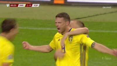 ¡GOOOL! Marcus Berg anota para Sweden