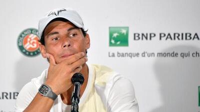 """""""Ni lo sé, ni me importa. No me considero favorito, soy un candidato"""", dice Nadal en Roland Garros"""