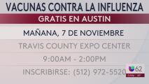 Austin ofrecerá vacunas gratuitas contra la influenza este sábado