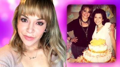 Jacqie reaccionó al recibir una felicitación de cumpleaños que escribió su mamá Jenni Rivera