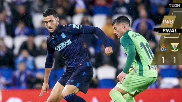 Javier Aguirre y su Leganés sacaron el empate ante la Real Sociedad