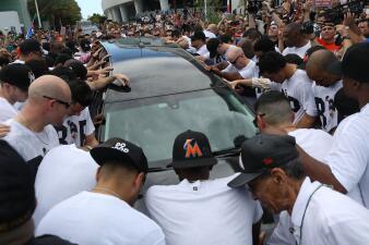 En fotos: El adiós de los Marlins a José Fernández