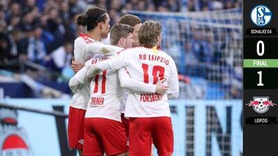 El Leipzig derrota al Schalke y se instala en el tercer lugar de la Bundesliga