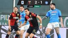 Lozano lo intentó, pero no pudo evitar derrota del Napoli