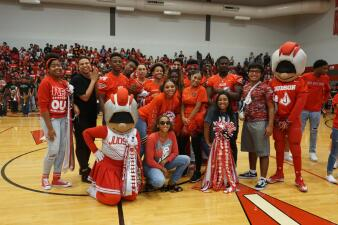 Judson's pep rally was extra lit