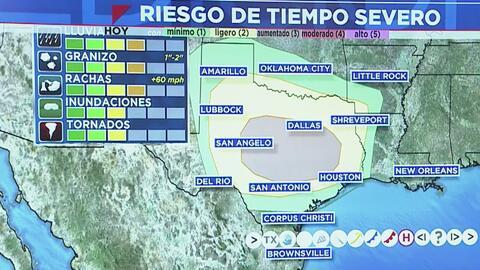 Houston sigue bajo riesgo de tiempo severo y no se descartan fuertes tormentas