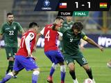 Chile empata ante Bolivia y se aleja de Qatar 2022