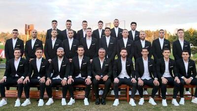 Con tres 'mexicanos', Argentina se tomó la foto oficial para Copa América