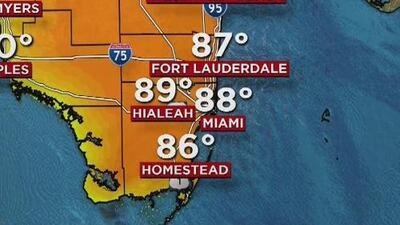Temperaturas que se mantienen en ascenso y cielo despejado para este miércoles en Miami