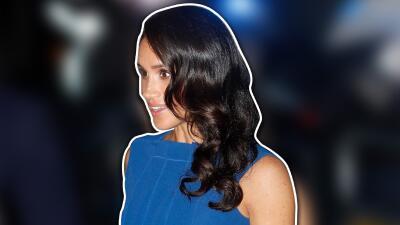 Con este vestido azul, Meghan Markle desató rumores de embarazo