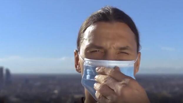 Zlatan hace peculiar campaña contra coronavirus
