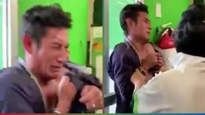 (Video) Ladrón rompe en llanto cuando lo cacharon robando un shampoo en tienda departamental